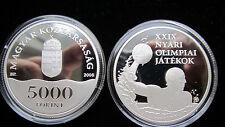 Ungarn 5000 Forint Silber  2008 Olympische Spiele Peking Spiegelglanz PP