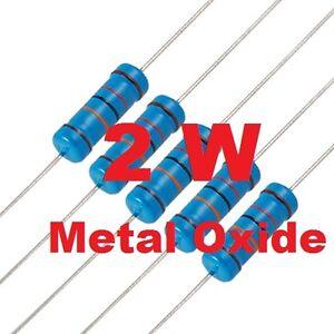 5Pz. 0,33 Ohm 2W ±5% Resistenze Metal Oxide Ø5x12mm ( 5 PEZZI )