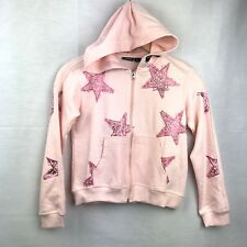 Diesel Jacket Hoodie Youth Girls English Rose Front Zipper Star Print  Size L12