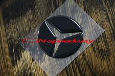 For Mercedes Steering Wheel Emblem Black Decal Insert W204 W212 AMG CLA A ML CLK