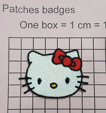 #879 Hello Kitty white cat Iron On  Embroidered Hat Jacket Hoodie Back Patch