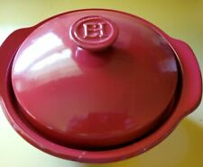 "EMILE HENRY RED 10"" COVERED CASSEROLE DUTCH OVEN 55.75"