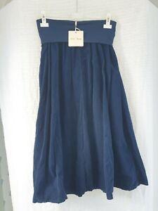 Julia Wang Kleid Rock Feincord Dunkelblau  Uni Stiefel Casual Uni 1 m lang 💚