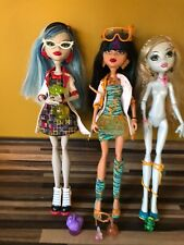 Monster High Cleo De Nile Ghoulia Yelps Lagoona Mad Science Lab Partners 3 Dolls