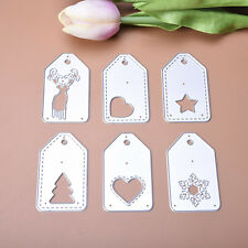 Creative Tags Dies Metal Cutting Stencil For Scrapbooking Paper Cards Decor DIY