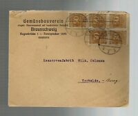 1923 Gemusebauverein Braunschweig Germany Inflation  Cover