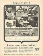 Publicité Advertising 1966  LEGO System  jouets enfants