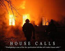 Firefighting Motivational Poster Art Fireman Equipment Badge Helmet Tools MVP167