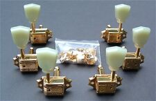 Guitar Parts WILKINSON Vintage Tulip Style - 3 Per Side 3x3 - TUNERS SET - GOLD