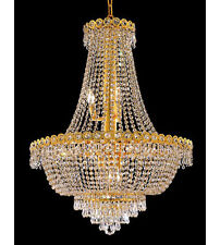Palace Empire 12 Light Crystal Chandelier Ceiling Light Gold  24x32