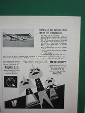 7/1961 PUB MOTOIMPORT POLAND PZL-101 GAWRON PZL-102 B KOS AIRCRAFT FRENCH ADVERT