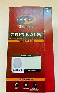 Duofold by Champion Thermal  Men's Mid Weight Wicking Crew Neck Top Size L