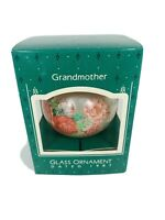 Hallmark 'Grandmother' Glass With Sentiment Dated 1987 Ornament New In Box