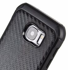 For Samsung Galaxy S7 - HARD RUBBER HYBRID ARMOR CASE COVER BLACK CARBON FIBER