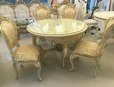 SILIK ITALY ORIGINAL SILIK BAROQUE STYLE TABLE + 4 CHAIRS #6