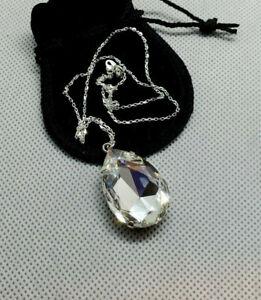 Teardrop Crystal Pendant Necklace with a Swarovski 30x20mm Crystal