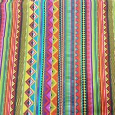 Stoff Baumwolle Meterware bunt Streifen Mexiko Mexico gestreift Dekostoff Trend