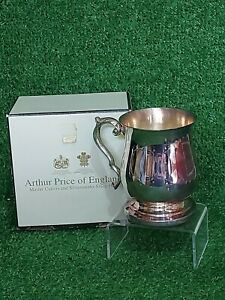 """Vintage Arthur Price """"Old English"""" Silver Plated Tankard Boxed"""