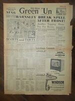 VINTAGE NEWSPAPER GREEN-UN NOVEMBER 14th 1953 SHEFFIELD WEDNESDAY v HUDDERSFIELD