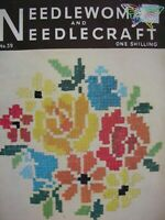 July 1954- NEEDLEWOMAN and NEEDLECRAFT No.59 - Complete with Uncut Transfer Page