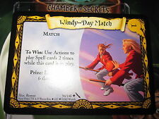 HARRY POTTER TCG CARD CHAMBER OF SECRETS WINDY-DAY MATCH 90/140 UNCO MINT EN