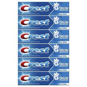 6 x Crest Decay Prevention Toothpaste, Cavity Protection - Fresh Mint - 100ml