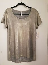lularoe Small classic t, silver  shimmer, elegant collection, NWT