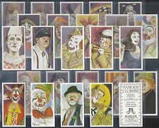 MARLOW-FULL SET- FAMOUS CLOWNS (25 CARDS) - EXC+++