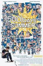 500 DAYS OF SUMMER Movie POSTER 27x40 Zooey Deschanel Joseph Gordon-Levitt