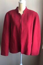 Talbots Womens Wool Jacket Coat Red Nwot Long Sleeve Front Open Sz 18