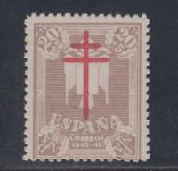 ESPAÑA (1942) NUEVO SIN FIJASELLOS MNH SPAIN -EDIFIL 958 (20 cts + 5 cts) LOTE 1