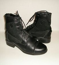 ARIAT Heritage Paddock Women's Black Leather Lace-Up Ankle Boots 6.5 B / 37 EUR