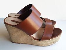 Zara Cognac Rope Twine Platforms Mules Shoes Size 40 EUR
