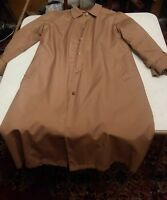 000 VINTAGE SEARS FASHION PLACE WOMEN JACKET TRENCH COAT Fur Lined Tan Size 16
