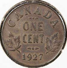 Canada 1927 Small Cent George V - XF/AU with a hint of toning