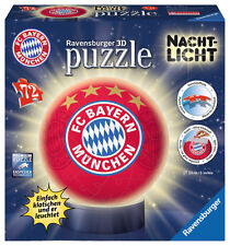 72 Teile Ravensburger 3D Puzzle Ball Nachtlicht FC Bayern München 12177