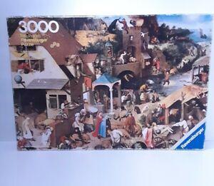 Ravensburger 3000 Piece puzzle Pieter Brueghel Dutch Proverbs 1977 Vintage Rare!