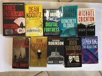 Lot of 10 Mystery Thriller Suspense CRIME Fiction Paperbacks Books RANDOM*MIX