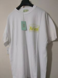 Aries Temple SS Tee (T Shirt) White Size  Medium  Retails £69 New with Tags