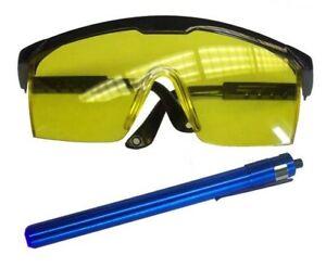 Professional Grade UV Leak Detection Dye Glasses & Black Light Kit #3530