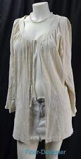 TRAVEL SMITH CRINKLE TIE Jacket light cotton layer shrug Coat cardigan SZ 1x NEW