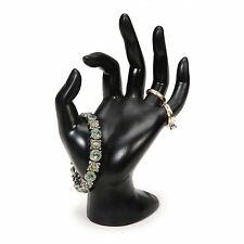Black Polyresin Hand Form Holder Tower Display for Rings,Bracelets, and Necklace