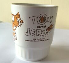 Tom and Jerry Cup/Mug 1976 Collectable Roller Skating