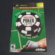 World Series Poker Original XBOX  MANUAL ONLY NO GAME OR CASE