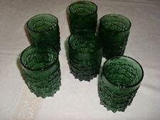 6 Gläser Borken/Eisstruktur grün