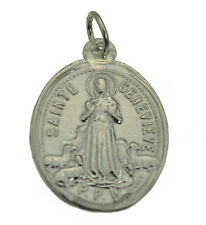 Saint Genevieve Patroness St. of Paris Sterling Silver .925 charm medal Jewelry