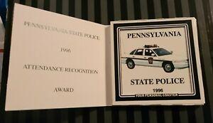 Pennsylvania State Police Crown Vic Car 1996 Ceramic Tile Coaster w Cork Back