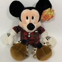 "Disney Store Exclusive Holiday Morning Mickey Mouse Plush Christmas 10"" NWT"