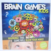 Brain Games Kids / National Geographic Board Game / NEW / Factory Sealed