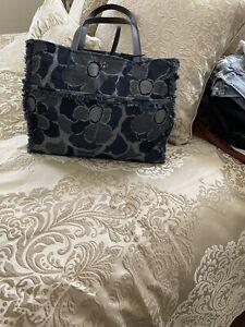 Kate Spade Floral Denim Handbag